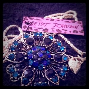 Betsey Johnson long sweater necklace/brooch